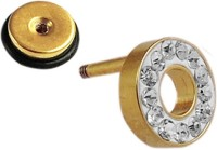 Sanaa Creations Fashionable Gold Plated Stud Earring With Cz Alloy Plug Earring