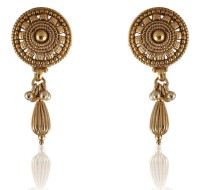 Vastradi Chandbali Style Brass, Alloy Drop Earring