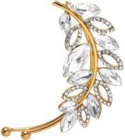 Jewelz Glossy Golden Metal Cuff Earring