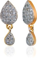 Alysa Aaminah 18K Yellow Gold, Rhodium Plated Cubic Zirconia Brass, Alloy, Silver Drop Earring