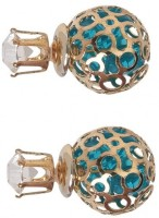 Femnmas Crystal Hollow Double Sided Alloy Stud Earring