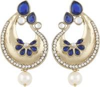 Radius Royal Blue Zircon Metal Drop Earring