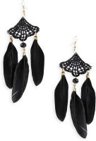 20Dresses Feather In The Night Metal Tassel Earring