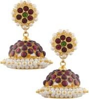 Vama Ering 24K Yellow Gold Plated Alloy, Brass Jhumki Earring