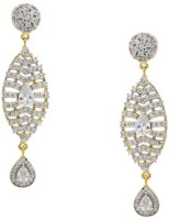 Pearls Cart Ad Stone Studded Peacock Theme Style Alloy Drop Earring - ERGEDKRQEEPYCHWS