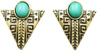 Bohocraft Bohemian Egyptian Triangles Antique Gold Alloy Stud Earring