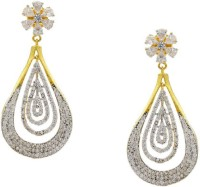 Pearls Cart Ad Stone Studded Peacock Theme Style Alloy Drop Earring - ERGEDKRQZZVMJJDE
