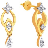 Sangini Spring Sparkle 18K Yellow Gold Plated 18 K Diamond Gold Drop Earring