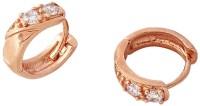 Variation Brass Plated 22 K Crystal Alloy, Brass Hoop Earring - ERGEFR8GA7X4FJGG