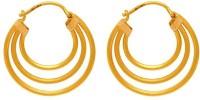 ZKD Jewels 3 Line 22 K Gold Hoop Earring