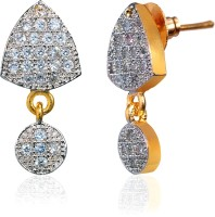 Fashion Fusion ES006501A Aaleeyah 18K Yellow Gold, Rhodium Plated Cubic Zirconia Brass, Alloy Drop Earring
