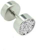 Vaishnavi Korean Made Non-Allergic Micro Crystal Shining Stones Made Of 316L Surgical Stainless Steel Stud Earring