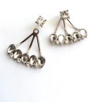 High Fashion Rose Metal Cuff Earring