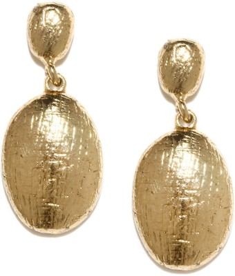 ToniQ Gold Metal Drop Earring