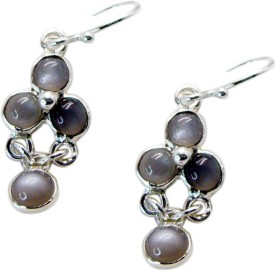 Riyo Delicatestar Labradorite Onyx Sterling Silver Dangle Earring