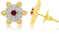 Sukkhi Classy Gold And Rhodium Plated Ruby CZ Alloy Stud Earring