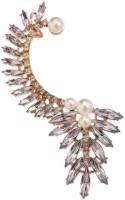 FemNmas Stylish Pearl Metal Cuff Earring