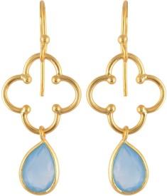 Jewel Cartel Princess Delight Chalcedony Silver Dangle Earring