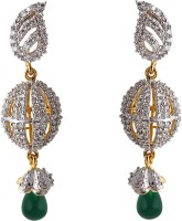 Heena Jewellery 18K Yellow Gold, 18K White Gold Plated Alloy, Brass Drop Earring