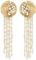 The Jewelbox Designer Kundan Brass Tassel Earring