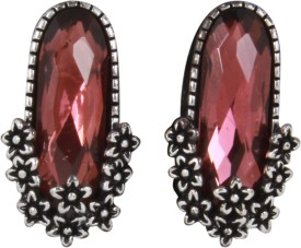 Jazz Jewellery Traditional & Antique Design Red Stone Partywear Alloy Stud Earring