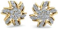 WearYourShine By PCJ The Vesta Diamond 18 K Diamond Gold Stud Earring