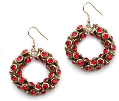 Alloy Trinketbag Damroo Bali Alloy Dangle Earring (Red)