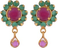 Rk City Shopping Ruby Stone Set Earring Alloy Drop Earring