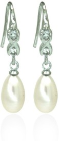 Prisha DSNER250 Pearl Copper Dangle Earring