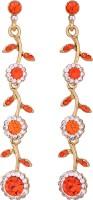 Vendee Fashion Floral Diamond Alloy Dangle Earring