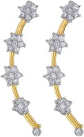Just Like Diamonds Yellow Gold Cubic Zirconia Alloy Cuff Earring