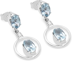 Krishna Genuine Topaz Silver Drop Earring