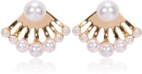 Via Mazzini Celebrity Inspired Front-To-Back Metal Stud Earring