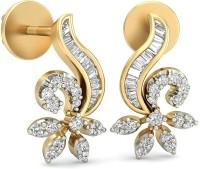 WearYourShine By PCJ The Sigrid Diamond 18 K Diamond Gold Stud Earring