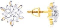 Nakshatra Spring Sparkle 10K Yellow Gold Plated 10 K Diamond Gold Stud Earring