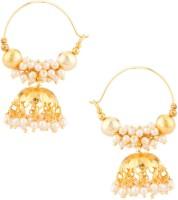 Voylla Artifictial Beaded Textured Crystal Alloy Jhumki Earring