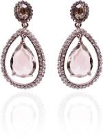 Trendy Baubles Rhodium Plated Crystal Metal Drop Earring