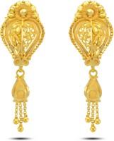 P.N.Gadgil Jewellers Scintalating Drop 22 K Gold Drop Earring