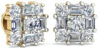 WearYourShine By PCJ The Quattrodine 18 K Diamond Gold Stud Earring