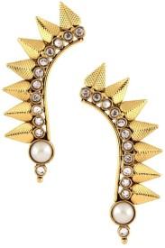The Jewelbox Wild Leaf Yellow Gold Copper Cuff Earring