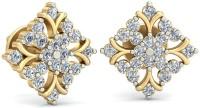 WearYourShine By PCJ The Quadro Diamond 18 K Diamond Gold Stud Earring