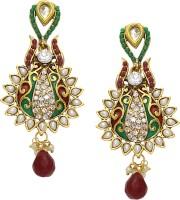 Aarnaa Pearl With Transparent Enamel Alloy Drop Earring