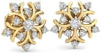 WearYourShine By PCJ The Ursina Diamond 18 K Diamond Gold Stud Earring