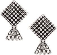 Castle Street Antique Silver Alloy Jhumki Earring