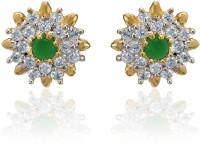 Dhruvi Creation By Zaveri Pearls 22K Yellow Gold, Rhodium K Cubic Zirconia Brass Stud Earring - ERGEFYG4QNWZVPVG