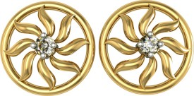Suvarnadeep Everyday::Love::Religious::Wedding & Engagement::Workwear 18 K Swarovski Crystal Gold Stud Earring