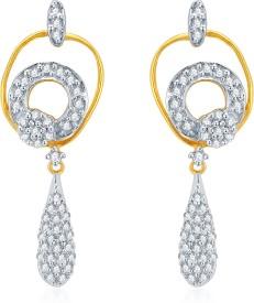 Karatcraft Olenta 18 K Diamond Gold Drop Earring