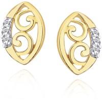 Compare Asmi Designer 18 K Diamond Gold Stud Earring at Compare Hatke