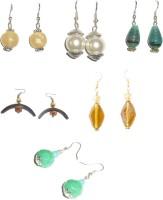 Beadworks Silver Plated  K Crystal Acrylic, Alloy, Bone, Brass, Ceramic, Glass, Lac, Metal, Resin, Shell, Stone, Wood Earring Set - ERGEY8UZRYJD3QBU