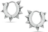 Vaishnavi First Quality Korean Made Spike Design Unisex Non-Allergic Made Of 316l Stainless Steel Hoop Earring